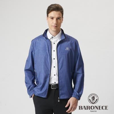 BARONECE 百諾禮士休閒商務  男裝 防曬立領輕量薄夾克外套-深藍色(1188661-38)