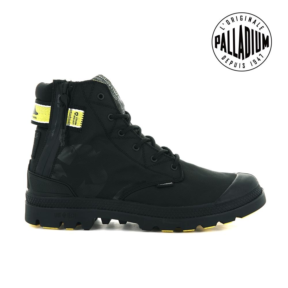 PALLADIUM EVO LITE+ RCYCL WP+再生纖維輕量防水靴-男-黑