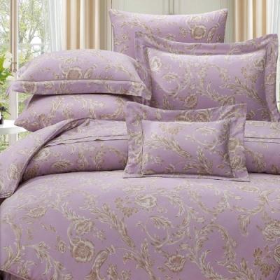 岱思夢  加大  60支八件式天絲床罩組   佩納亞-紫