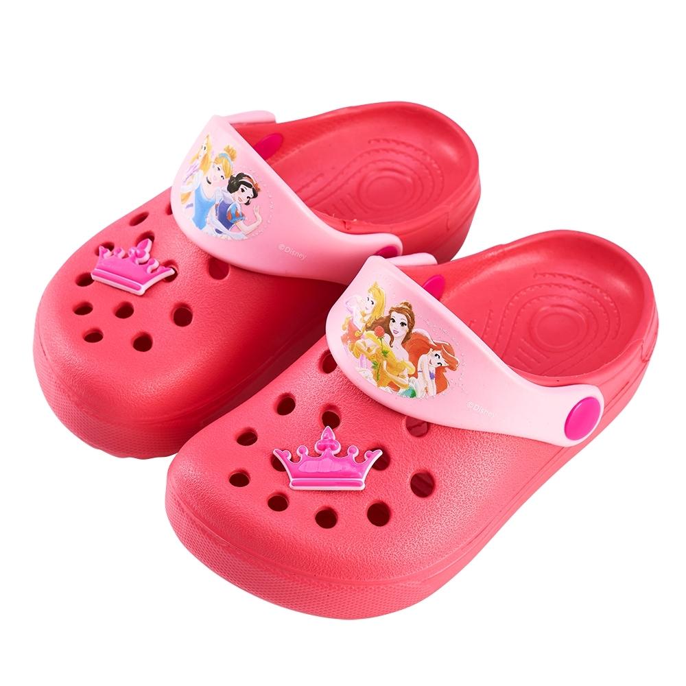 迪士尼童鞋 公主 皇冠飾釦洞洞鞋-粉(柏睿鞋業)
