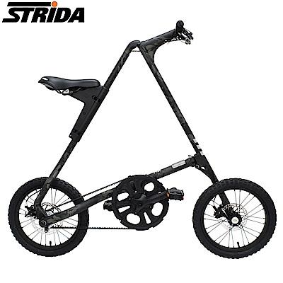 STRIDA速立達 16吋MULTICAM迷彩版皮帶碟剎三角形折疊單車-黑鷹迷彩