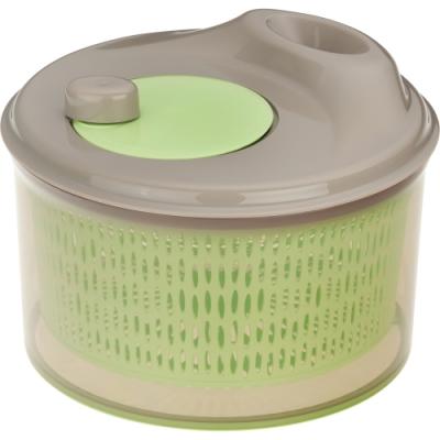《KELA》轉式蔬菜脫水器(灰綠23cm)