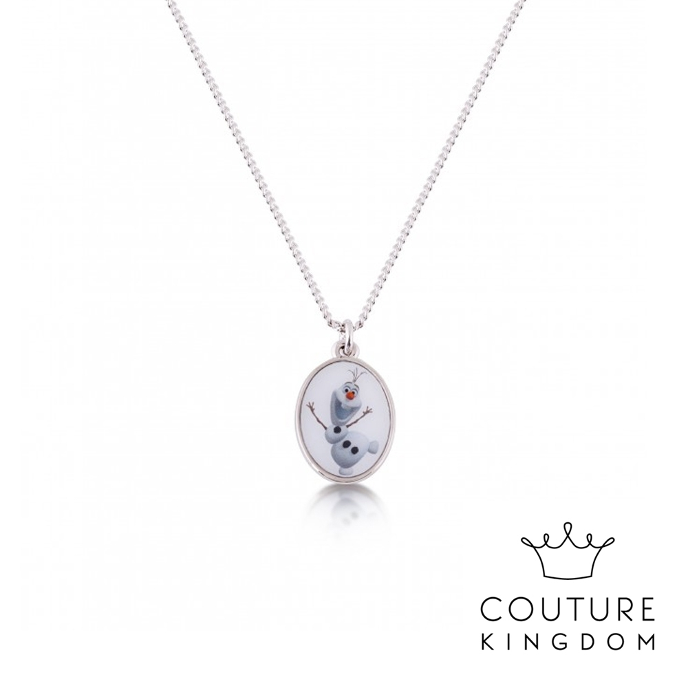 Disney Jewellery by Couture Kingdom 迪士尼冰雪奇緣2 彩繪雪寶鍍14K白金項鍊
