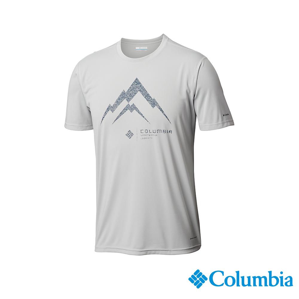Columbia哥倫比亞 男款-快排短袖上衣-灰色 UAE06750GY