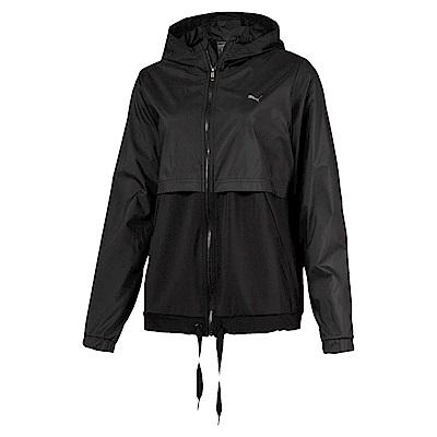 PUMA-女性訓練系列異材質拼接風衣外套-黑色-亞規