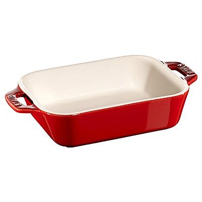 Staub 長形烤盤 烤皿 焗烤盤 14x11cm 紅色