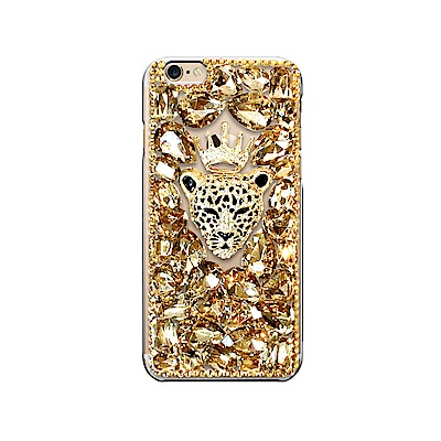 DDPOP iPhone 7 Plus 韓流明星彩鑽手機殼 雪豹國王款 @ Y!購物