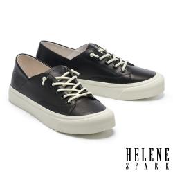 休閒鞋 HELENE SPARK 簡約百搭彈力鞋帶厚底休閒鞋-黑
