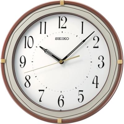 SEIKO精工 歐式風格時尚掛鐘(QXA748B)-31.6cm