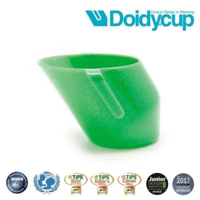 【英國Doidy cup】彩虹學習杯/訓練杯/刷牙杯-星空綠(專利造型設計 喝水看的見)