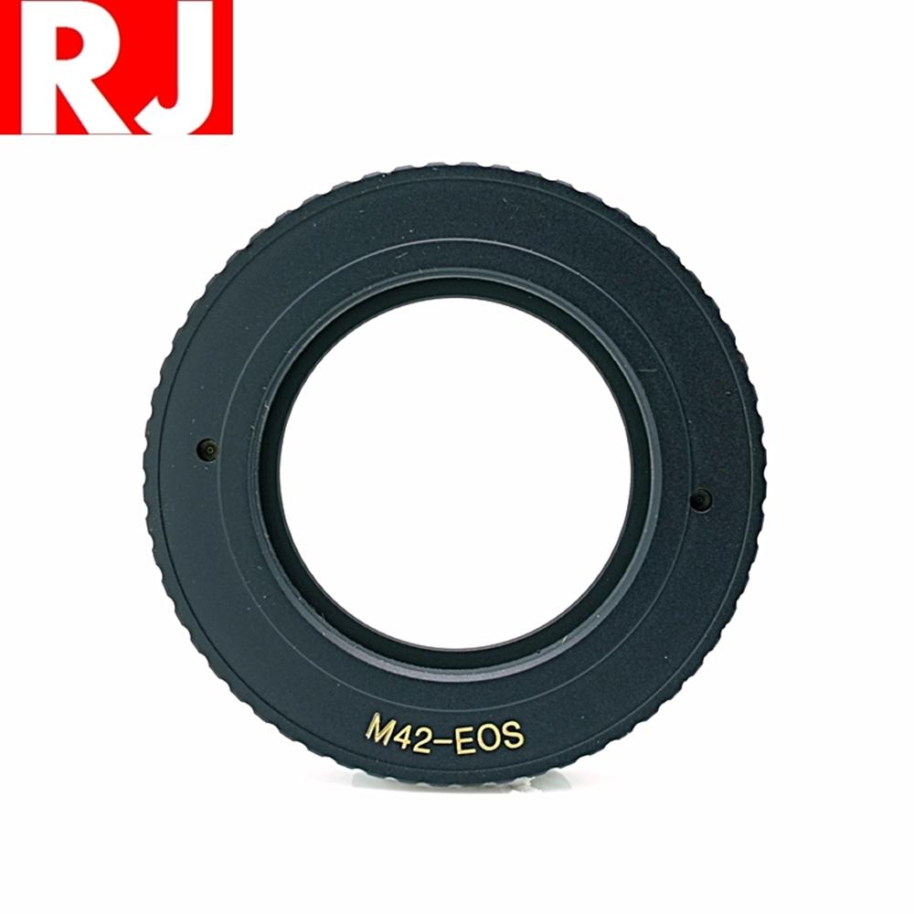 RJ製造 M42轉成Canon佳能EOS即EF EF-S接環(有檔板.有遮蔽環)鏡頭轉接環