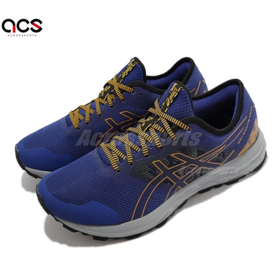 Asics 慢跑鞋 GEL Excite Trail 男鞋 亞瑟士 耐用 支撐 輕量 緩衝 亞瑟膠 藍 橘 1011B194400