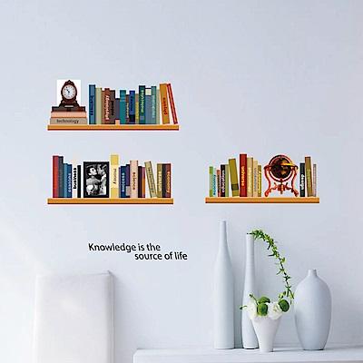 半島良品 DIY無痕壁貼-知識書架 AY743 50x70cm