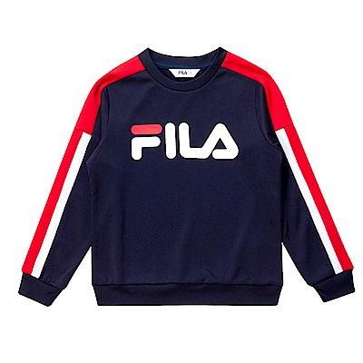 FILA KIDS 童針織上衣-丈青 1TES-8404-NV