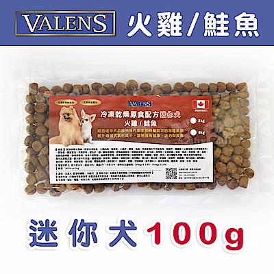 【VALENS威倫】迷你犬-冷凍乾燥原食配方-火雞/鮭魚 外出包 100 g
