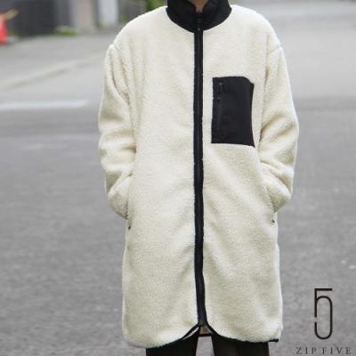 ZIP日本男裝 毛茸茸BOA高領長版夾克大衣 (5色)