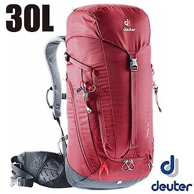 德國 Deuter 新款 Trail 30L 專業輕量拔熱透氣背包_紅