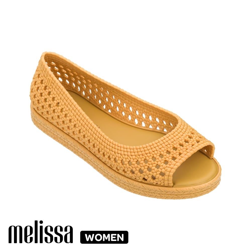 Melissa x Jason Wu 聯名編織魚口鞋  黃