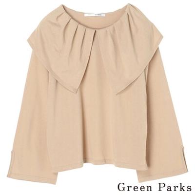 Green Parks 注目大荷葉領口上衣