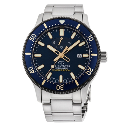 ORIENT STAR 東方之星 DIVERS 機械錶 系列 限量鋼帶款 藍色 RE-AU0304L