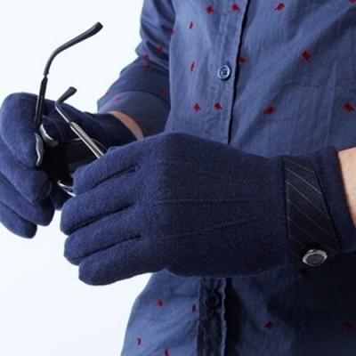 米蘭精品 觸控羊毛手套-商務保暖加厚可觸屏男手套聖誕節交換禮物72q8
