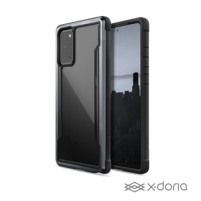 X-doria Samsung Galaxy Note20 極盾SHIELD鋁合金防摔手機殼 - 尊爵黑(軍規防摔認證 MIL-STD-810G)