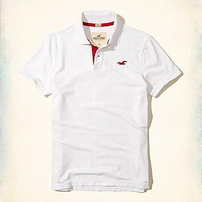 Hollister HCO  短袖 polo 白色 0907