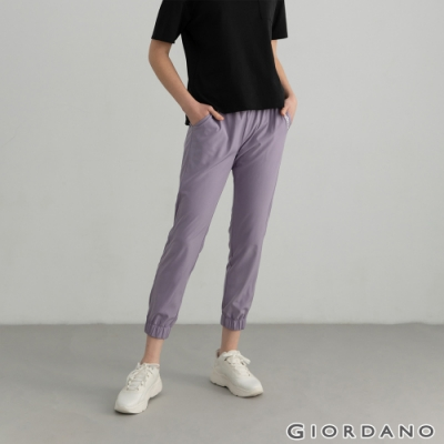 GIORDANO 女裝3M內抽繩束口褲 - 87 灰紫