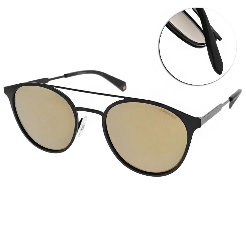 Polaroid 水銀偏光太陽眼鏡 百搭飛行款/霧黑-棕 #PLD2052S 807LM
