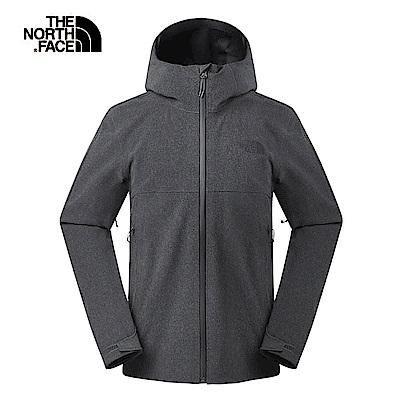 The North Face北面男款深灰色防水透氣衝鋒衣|3RKGDYZ