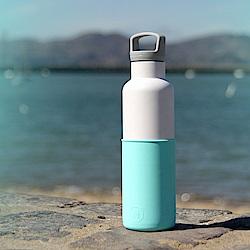 美國HYDY時尚保溫瓶_CinCin White北極藍-白瓶 590ml