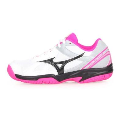 MIZUNO CYCLONE SPEED 女排球鞋- 白灰黑粉