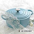 LE CREUSET琺瑯鑄鐵典藏圓鍋26cm(晴空藍)鋼頭