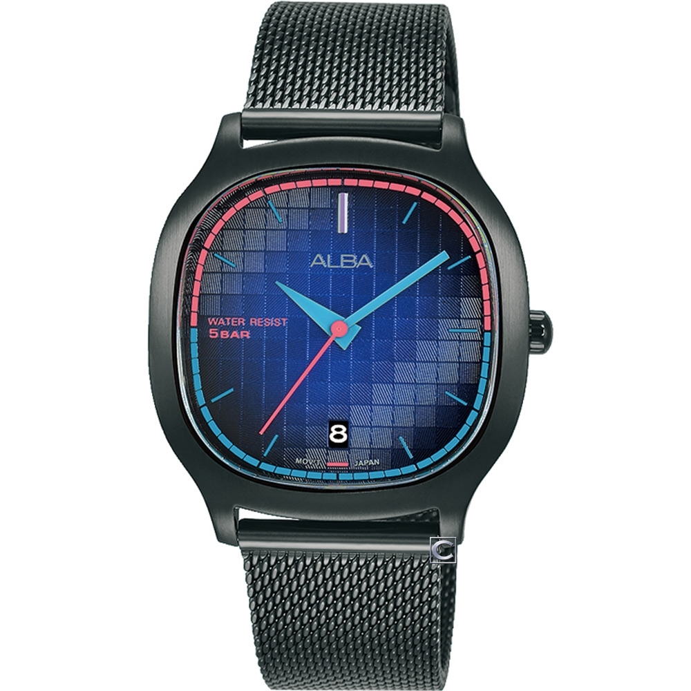 ALBA 雅柏 方型復古休閒女錶(VJ32-X312SD)AG8L09X1