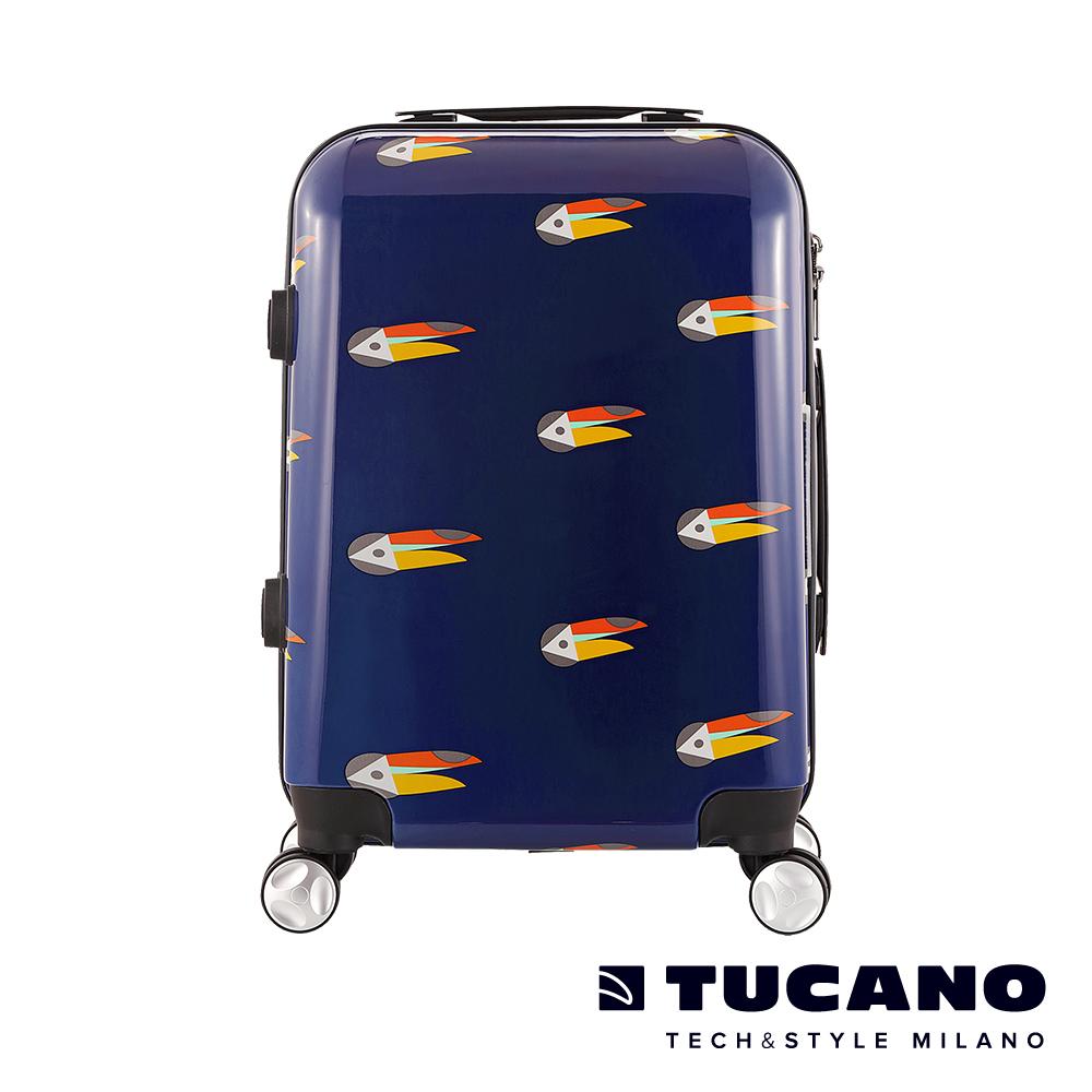 TUCANO X MENDINI 24吋拉鍊式硬殼登機行李箱-大嘴鳥藍