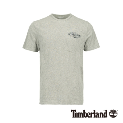 Timberland 男款中麻灰圓領短袖T恤|A218Y