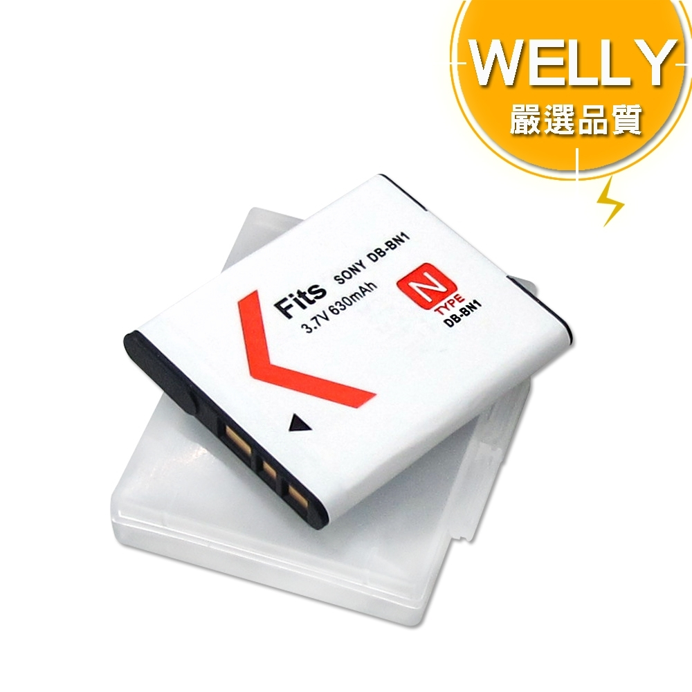 WELLY SONY NP-BN1 / BN1 高容量防爆相機鋰電池 product image 1