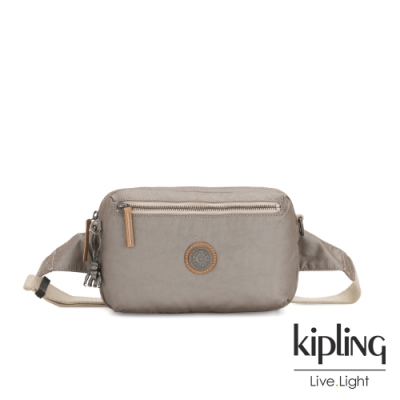 Kipling 邊緣地帶質感霧金方形腰包-HALIMA-EDGELAND系列