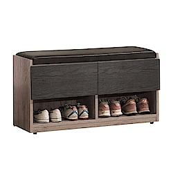 文創集 夏爾比3尺二抽座鞋櫃/收納櫃(二色可選)-90x32x47cm免組