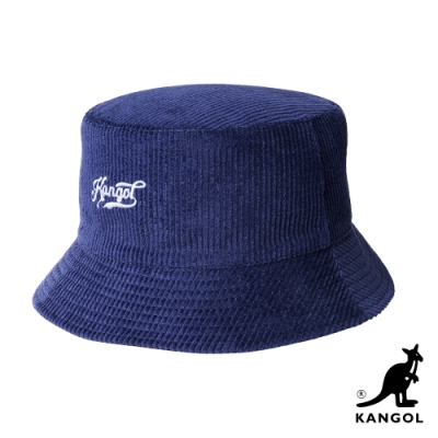 KANGOL-復古KG手寫字樣雙面漁夫帽-藍色
