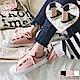 NEW FORCE 浪漫緞帶帆布穆勒鞋-粉色