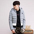 Dreamming 時尚圓徽73保暖厚鋪棉連帽外套-共二色