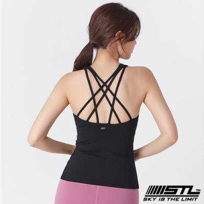 STL Yoga Bra top SS Star 韓國 自然美型 運動機能背心(含專利胸墊) 星星黑