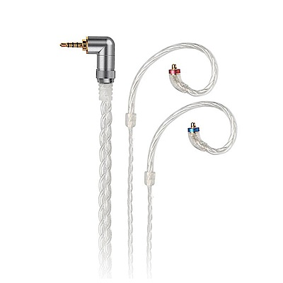 FiiO 2.5mm純手工編織高純度單晶銅鍍銀MMCX耳機升級線(LC-2.5C)