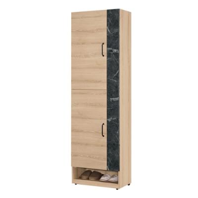 文創集 波德 現代2尺雙色二門高鞋櫃/玄關櫃-60x32.5x196cm免組