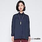 獨身貴族 女子風範拼接傘狀剪裁襯衫(2色)