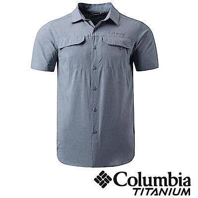Columbia 哥倫比亞 男款-鈦 酷涼快排短袖襯衫-灰色 UAE15780gy