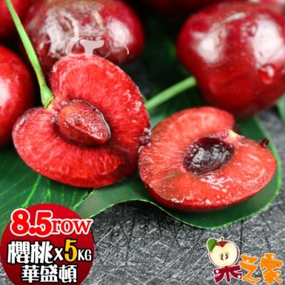 果之家 空運嚴選紅寶石華盛頓櫻桃8.5ROWx5公斤
