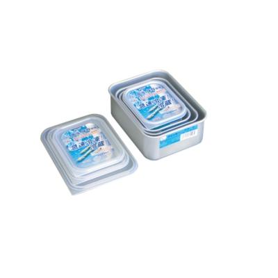 AKAO 淺型鋁合金保鮮盒SS 透明蓋