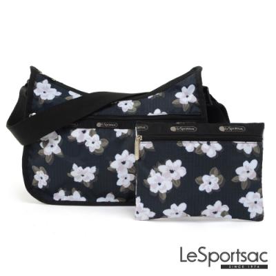 LeSportsac - Standard側背水餃包/流浪包-附化妝包 (日日花)